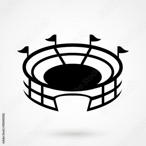 Foto Stadium vector icon with round shadow