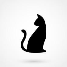 Cat Shape Icon. Vector Illustr...