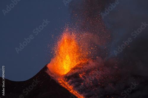 Staande foto Vulkaan Eruption of Etna Volcano in Sicily,Italy