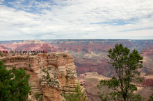 View On Grand Canyon Scenery Of Mather Point Rock