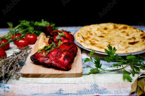 Fototapeta specjalności kulinarne Mixed Grill Indian Flavour