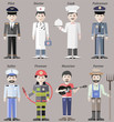 Vector human personages of different professions