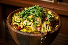 Vegetable Salad With Lemon Tomato Arugula Potato