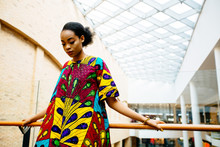 Fashion African Woman In Natio...