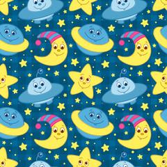 Tapeta Children space pattern