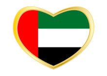 Flag Of The UAE In Heart Shape...