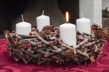 Advent Wreath Wth Christmas Ca...