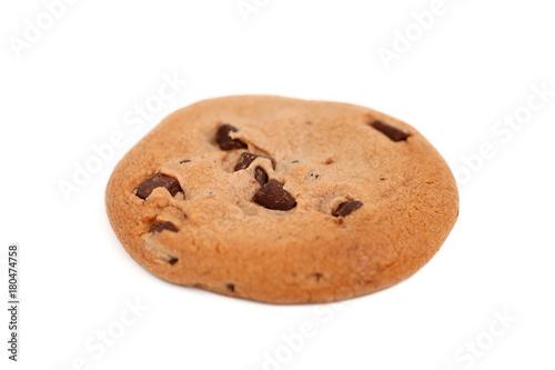 Tuinposter Koekjes チョコチップ クッキー 白背景