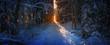canvas print picture - Winterlicht