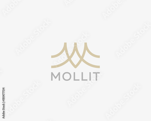 Abstract Letter M Logo Design Line Creative Wave Symbol Universal Vector Icon Roof Mount Camp Logotype Buy This Stock Vector And Explore Similar Vectors At Adobe Stock Adobe Stock