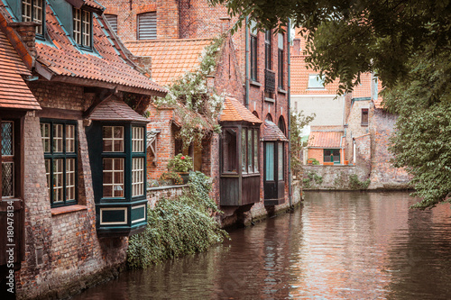 Deurstickers Brugge Brügge, Belgien, Mittelalter, Mittelalterstadt, Alte Bauwerke, Alte Gebäude