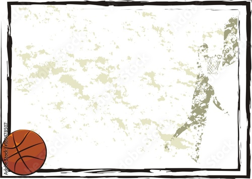 basketball frame, background, banner - Buy this stock vector