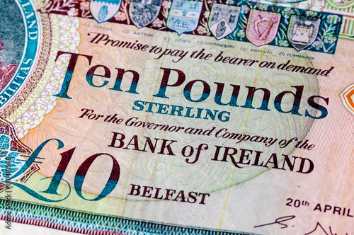 Bank Of Ireland Ten Pound Note As Used
