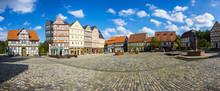 Nachgebildete Historische Fachwerkhäuser Mit Marktplatz Im Freilichtmuseum Hessenpark, Neu Anspach, Hessen, Deutschland