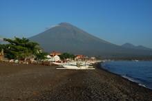 Vue Sur Le Mont Agung Depuis L...