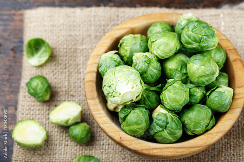 Brussels sprouts top view