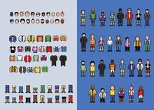 Pixel Art Man Avatar Creator, ...