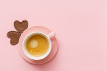 Coffee With Chocolate Hearts