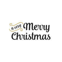 Very Merry Christmas Lettering