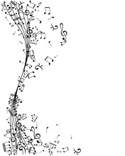 Notes On The Swirl. Music Deco...