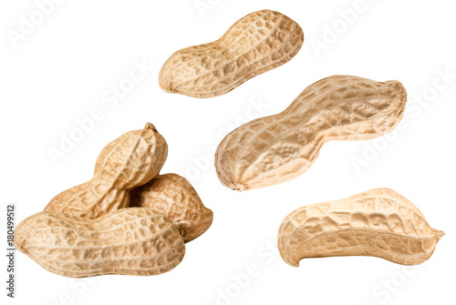 peanuts isolated on white Canvas Print