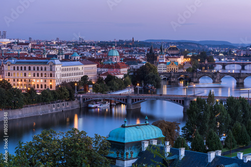 Foto  The bridges of Prague át dawn
