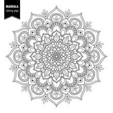 Monochrome Ethnic Mandala Desi...