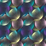 Streszczenie liniowe kule bezszwowe wzór. Kolorowy powtarzalny nowoczesny design z bąbelkami. Tło geometryczne koła. - 180517937