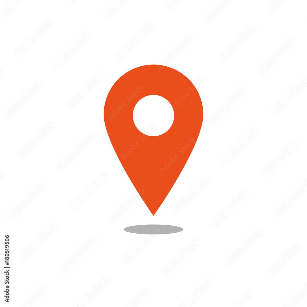 Fototapeta Location icon orange vector