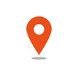 Leinwandbild Motiv Location icon orange vector