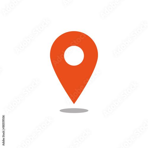 Fotografie, Obraz  Location icon orange vector