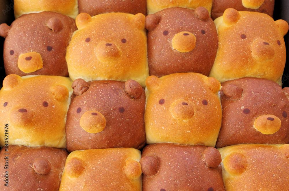くまさんのちぎりパン