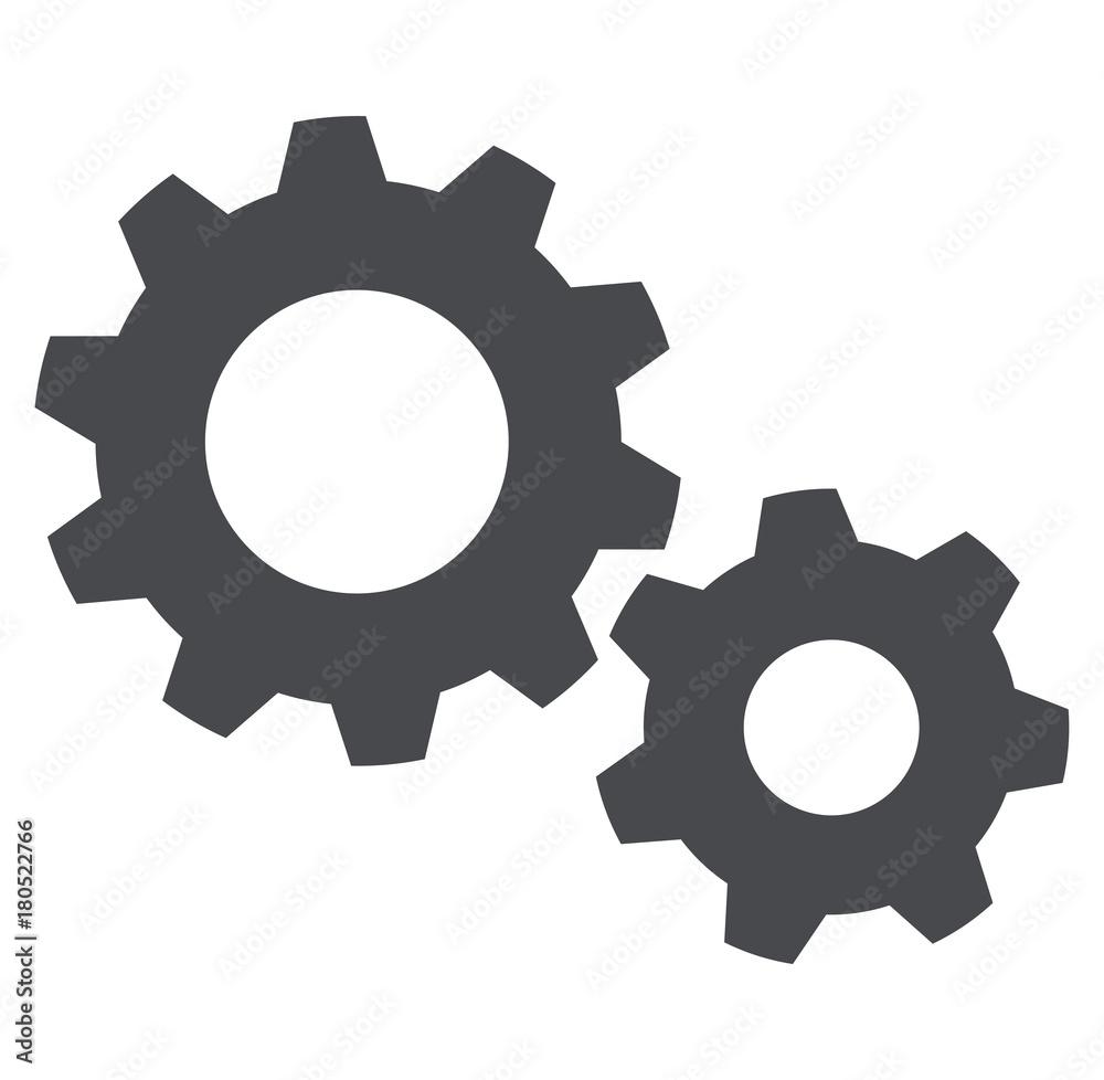 Fototapety, obrazy: settings icon on white background