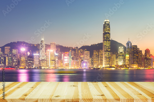 Photo  Victoria Harbour Hong Kong
