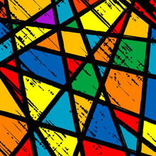 Grunge Stained Glass Window