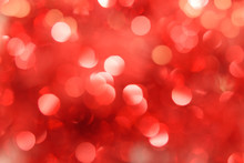 Abstract Red Bokeh. Christmas Background Texture