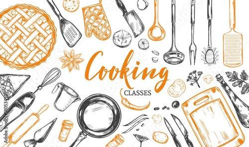 Pinturas sobre lienzo  Cooking concept