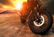 Old Retro Motorcycle And Beaut...