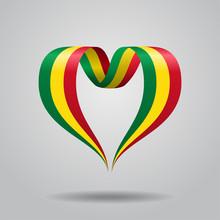 Malian Flag Heart-shaped Ribbo...