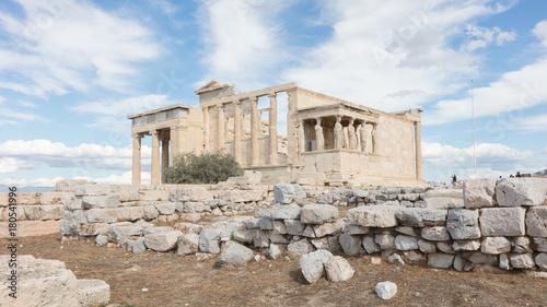 Plakat Erechtejon na Akropolu w Atenach - Grecja