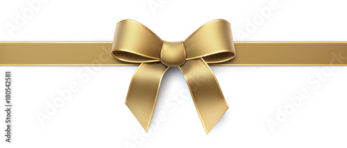 Foto Golden silk ribbon with gold border - horizontal