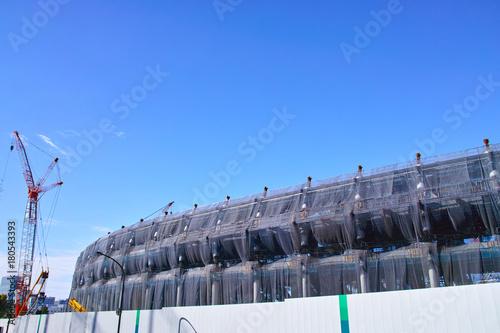 Foto op Plexiglas Stadion 建設中の新国立競技場