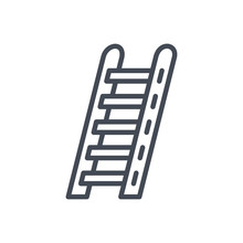 Firefight Service Line Icon Ladder