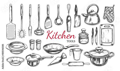 Fotografía  Kitchen utensil, tools set