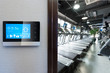 smart screen with smart home with modern gym