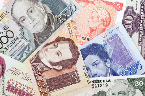 Venezuelan Bolivares, a background Wallpaper Mural