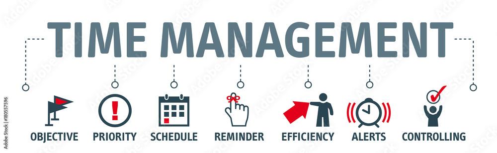 Fototapeta Banner time management