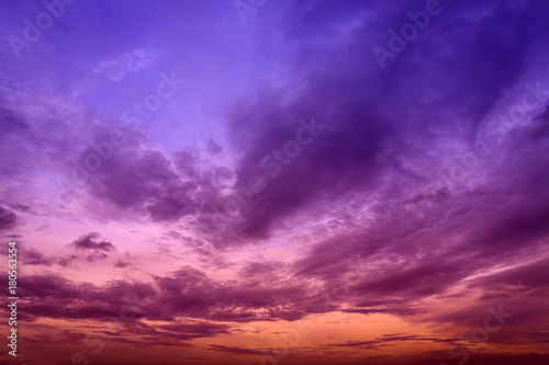 Foto auf Gartenposter Hochrote Colorful sky and cloud in twilight background