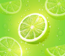 Lime Juice Green Background. R...