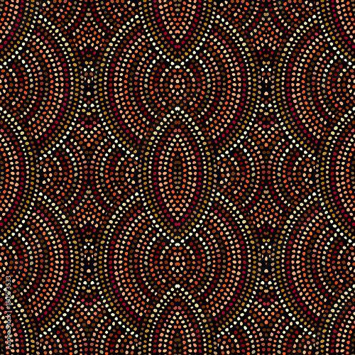 Ethnic boho seamless pattern in african style on black background Canvas Print